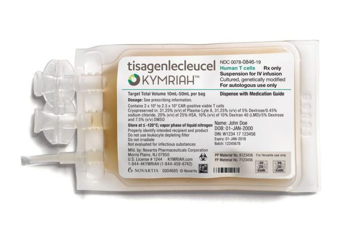 CAR-T THERAPY KYMRIAH APPROVED FOR USE